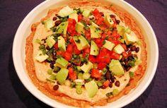Layered Fiesta Dip w/ Lime Tortilla chips