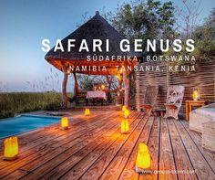 Egal ob in Südafrika, Namibia, Botswana, Kenia oder Tansania - wir stellen Ihre Reise ganz individuell nach Ihren Wünschen zusammen.