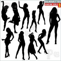 Silhouettes Dancing Girls