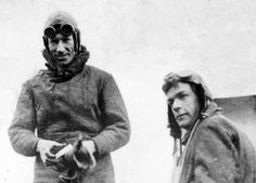 Charles Kingsford Smith and Charles Ulm after their Pacific flight.
