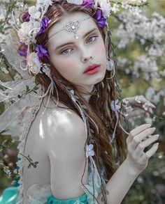 16 Trendy Flowers In Hair Photography Fairy Tales Hair Photography, Fantasy Photography, Photography Women, Portrait Photography, Fairy Tale Photography, Fantasy Pictures, Beautiful Fairies, Foto Art, Fantasy Girl