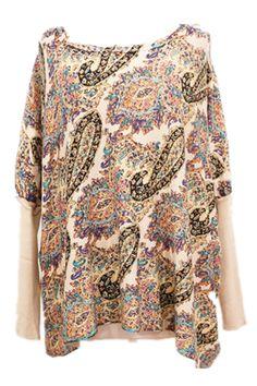 Cute Paisley print jumper.