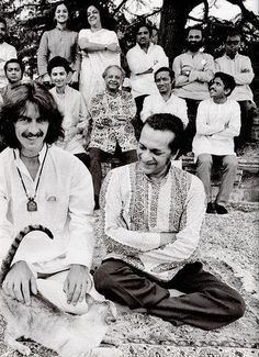 George and maestro Ravi Shankar, two more reasons to love him.....