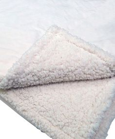 Another great find on #zulily! Ivory Micro Flannel®Sherpa Blanket #zulilyfinds