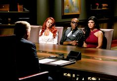 """In 2008, Maeve Harris' artwork began to regularly appear on NBC's """"Celebrity Apprentice"""".  A huge abstract painting in The Donald's boardroom that was placed right behind everyone as they got fired."""