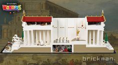 https://flic.kr/p/SMHfkT | LEGO Temple of Artemis cutaway | According to historical reports, the temple was set on fire in 356 BC by Herostratus. You may find him sneaking around in the model somewhere, not to mention a disastrous open-mic Karaoke performance from Medusa.