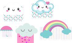 CONTÉM  5 DISPLAY DE 18CM    ** FAZEMOS EM TAMANHOS MAIORES TB Baby Girl Birthday, Happy Birthday, Cloud Party, Hello Kitty Images, Sprinkle Shower, Printable Paper, Free Printable, Baby Boy, Baby Shower