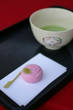 Japanese Sweets, wagashi, at a Tea-ceremony