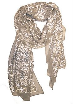 Sparkly Scarf-great way to add some holiday fun to a simple jeans and tee look