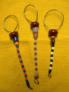 3 Small Handcrafted Beaded Bubble Wands  16.75 by Kats3meows, $8.25