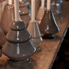 Avvento small grey Christmas candleholder Kähler Design