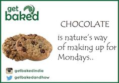 Beat away your Monday blues with our delicious range of Chocolate Crunch Rocks & Cookies! #Chocoholic #MondayBlues #GetBaked