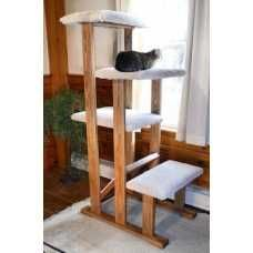 I really like this 4 Tier Hardwood Cat Tower with Scratcher from Cozy Cat Furniture! I really like this 4 Tier Hardwood Cat Tower with Scratcher from Cozy Cat Furniture! Diy Cat Tower, Wood Cat, Cat Stands, Cat Enclosure, Reptile Enclosure, Cat Scratcher, Cat Room, Cat Condo, Cat Tree Condo