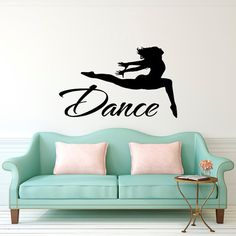Dance Wall Decal Wall Decal Quote Dance Jumping by FabWallDecals