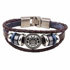 Hand Made Multilayer Braided Bracelets Men Vintage Punk Genuine Leather bracelet &Bangle good gift Bijouterie Accessories Cheap Bracelets, Couple Bracelets, Braided Bracelets, Bracelets For Men, Bangle Bracelets, Leather Bracelets, Bangles, Bracelet Men, Necklaces