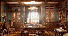 Gentleman's Quarters Home Office   Wood-Mode   Fine Custom Cabinetry