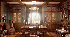 Gentleman's Quarters Home Office | Wood-Mode | Fine Custom Cabinetry