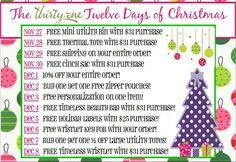 ThirtyOne Twelve Days of Christmas gift ideas
