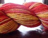 Hand Dyed Upcycled Wool Yarn