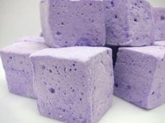 Lavender Marshmallows... yum!!  I have never tried a lavender marshmallow~