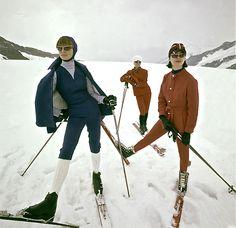 Switzerland - Winter 1963, Vogue. Photo George Barkentin - Condè Nast Archive. Vintage ski style.