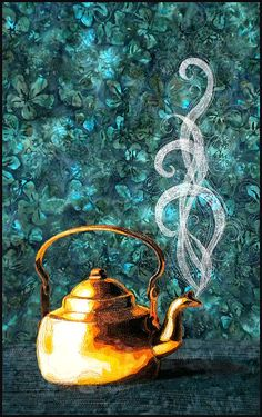 jennyhenk:    felicefiberarts  createcreatively:  Copper Kettle quilted by Kate Thermel