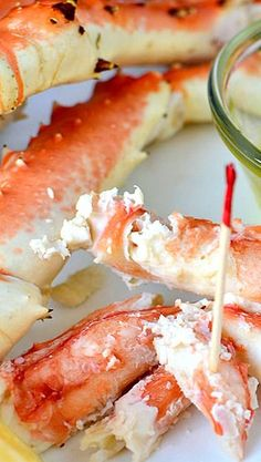 Drunken Alaska King Crab legs served with melted butter are great for game time, a backyard party, or any time!
