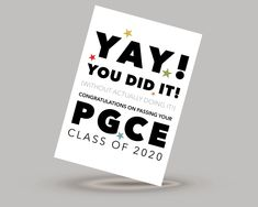 Class of 2020 Degree congratulations card - for the year when no one #graduation  actually took their exams!   #pgce #teacher #degree #degree2020 #exams #congratulationscard #youdidit #BSC #BA #phd #classof2020 #graduation
