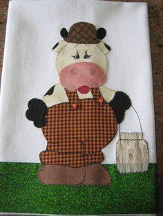 Pano de prato diferenciado em patchwork confeccionado com tecido 100% algodão