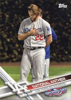 2017 Topps Opening Day - All the Dodgers Cards -  National Anthem  - #NA-8 Clayton Kershaw
