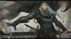 white hair, Fantasy art, Sword, Cloaks hd wallpaper
