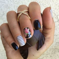 annaleedunbar.jamberry.com Lovely floral stripes Jamicure!