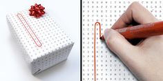Universal gift wrapping paper: designed by Francesca Guidotti and Fabio Milito.