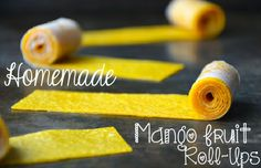 Homemade Mango Fruit Roll-Ups How many of you ladies love yourself a juicy Fruit Rollup? A Savory Fruit by the Foot? Some tangy Gushers? Well if you can say yes to any of the above, then tune it! Today I am going to teach you how to make healthy, homemade mango fruit rollups! The best part? There is no sugar, so you can feel...  Read More at http://www.chelseacrockett.com/wp/food-2/homemade-mango-fruit-roll-ups/.  Tags: #Diy, #Food, #Healthy, #Homemade, #Mango, #MangoFru