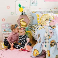 Lovely Donuts Colorful baby room decor  design idea