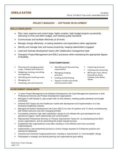 12 sample resume for project manager it software riez sample resumes