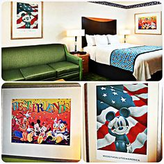 How would you like to share your room with Mickey on your next trip to #Disneyland? We make it possible with our Mickey Mouse themed room!