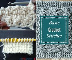 Learn a new stitch with our collection of 31 Basic Crochet Stitches. These tutorials will teach you everything you need to know about crochet. Learn these stitches and apply them to any one of our free, easy crochet patterns. Plus, learn how to work