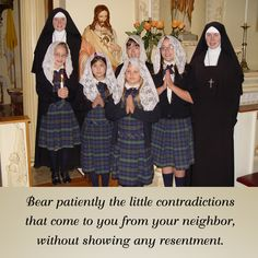 Bear patiently the little contradictions that come to you from your neighbor, without showing any resentment. #DaughtersofMaryPress #DaughtersofMary #SacredHeart