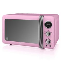 Swan Retro Digital Microwave - Pink Offering top-end technology for the style-conscious homeowner, the Retro Digital Microwave form iconic housewares brand Swan is an impressive addition to any kitchen. Boasting a 20 litre capacity, digital disp Pink Microwave, Small Appliances, Kitchen Appliances, Kitchens, Microwaves For Sale, Kitchen Equipment, Household, Ebay, Homes