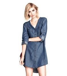 22 Summer-Ready Denim Dresses via @WhoWhatWear