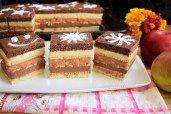 prajitura-trio-cu-mere-si-crema-in-doua-culori-3 Vanilla Cake, Tiramisu, Cheesecake, Ethnic Recipes, Desserts, Tailgate Desserts, Deserts, Cheesecakes, Postres