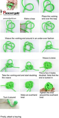 A tutorial on a paracord keychain.