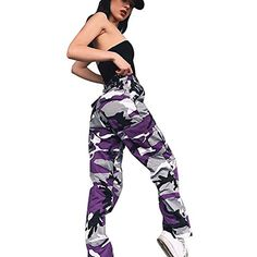 ADESHOP Femmes Sports Camo Cargo Pantalon Outdoor Camouflage Impression  Casual Jeans Pantalons Slim Chic Casual VêTements 514c95ba0fe
