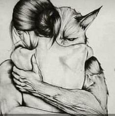 Tattoo girl wolf illustrations Ideas for 2019 - Erstaunliche zeichnungen - Tattoo Dark Fantasy Art, Fantasy Artwork, Dark Art, Wolf Illustration, Art Sketches, Art Drawings, Beast, Werewolf Art, Werewolf Tattoo
