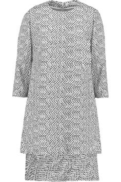 CHLOÉ Layered Bouclé Dress. #chloé #cloth #dress