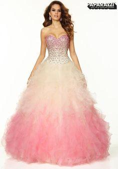 Mori Lee Ball Gown Dress 97021  #MoriLee #Prom2015 #PeachesBoutique