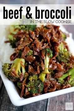 "This Slow Cooker Spicy Beef and Broccoli Recipe is for all my ""cooks"" who love a good Chinese meal, but can't make one for the life of them.  This dish is super easy to make. And don't let the spicy scare you (or your kids), it's very simple to dial it up or down by adjusting the red pepper flakes and you won't lose any flavor."
