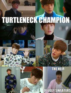 Which #kdrama had uglier sweaters?   Park Hae Jin in 'My Love From the Star' or Lee Min Ho in 'Heirs?'