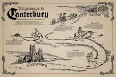 map of the canterbury tales - Google Search
